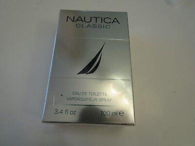 New/Sealed.Nautica classic eau de toilette spray for men;3.4 FL oz