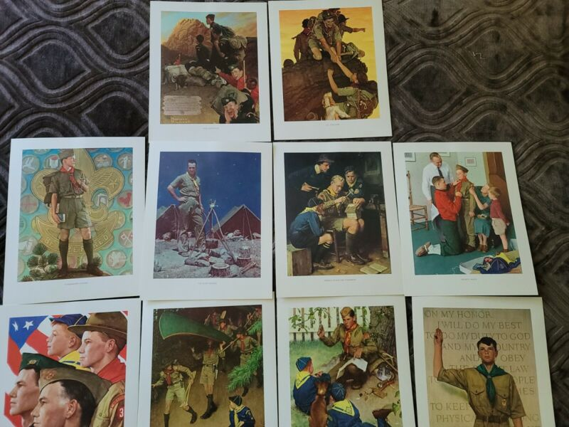 10 11x14 Scouting Through The Ages Norman Rockwell  Prints series 3001