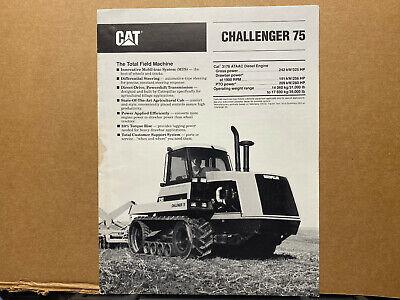 Caterpillar Challenger 75 Tractor Brochurecatalog 1990