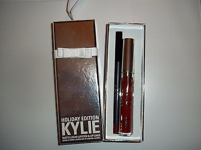 Kylie Cosmetics Holiday Edition Matte Lip Kit ~ MERRY ~ 100% AUTHENTIC BNIB.