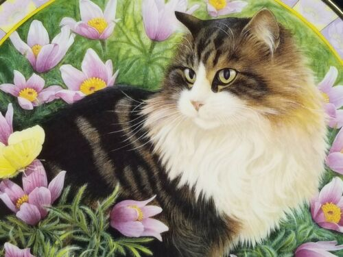 """1996 LE Lesley Anne Ivory Cats Among the Flowers """"Simpkin in Pasque Flowers"""" NIB"""