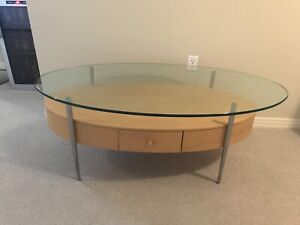Glass Coffee Table and Console Table Set