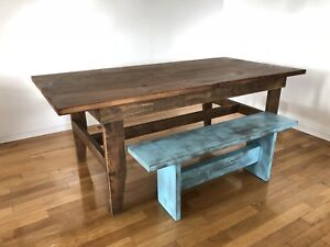 Farm Style Harvest Table and Bench