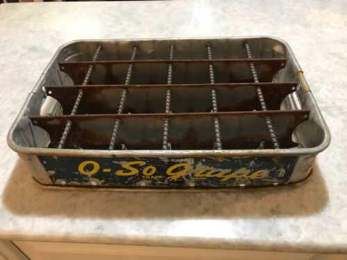 Vintage O So Grape Soda Metal Bottle Carrier Case - Super Rare