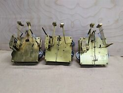 3 Hermle Westminster chime 451 series floor clock movements for parts or repair