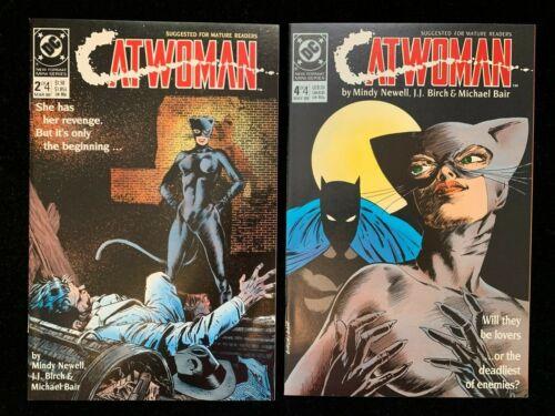 DC Comics Catwoman (1989)  Issues 2 & 4.  Near Perfect NM+ 9.6.   Batman App.