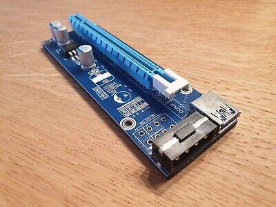 Gebraucht, Kolink PCIe x1 auf x16 powered Riser Card USB 3.0 Kabel 60cm (ZURC-006) gebraucht kaufen  Jockgrim