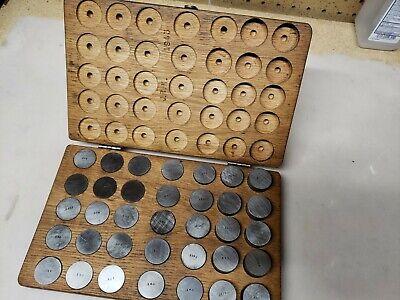 Vintage Gage Blocks Set One Of A Kind Unique 1943 Toolmaker Made .049 - 1