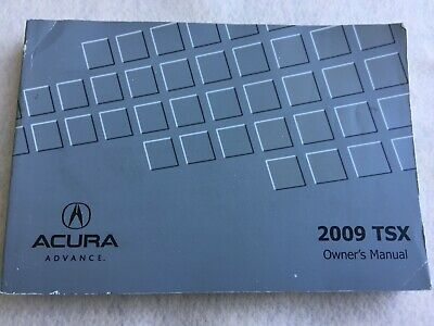 2009 Acura TSX Owners Manual