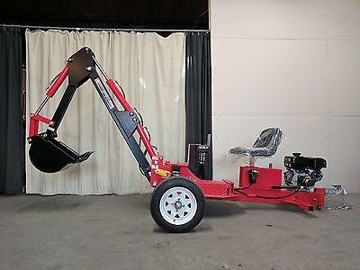 Hoc Te301 Trailerable Excavator Backhoe Trencher 1 Year Warranty