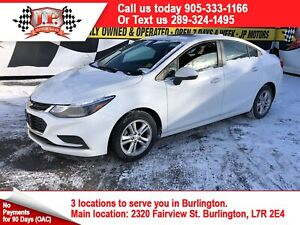 2017 Chevrolet Cruze LT, Auto, Sunroof, Back Up Camera, Heated S