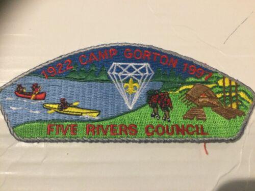 Five Rivers Council CSP SA-3 Camp Gorton 75th Anniversary 1997 SALE!!