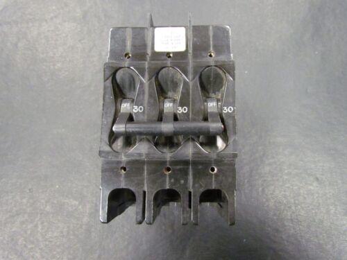 AIRPAX 3 POLE 30 AMP CIRCUIT BREAKER 209 MARINE BOAT