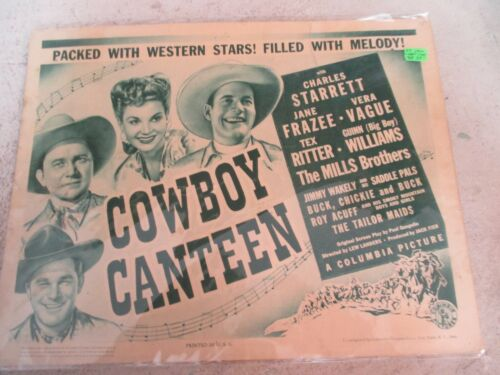 Cowboy Canteen Lobby Card Poster, Columbia Pictures 1944