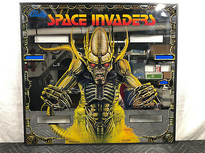 Bally Space Invaders Inner Mirrored Pinball Machine Game Backglass