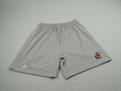 (adidas Kansas Jayhawks - Gray Poly Shorts (Multiple Sizes) - Used)