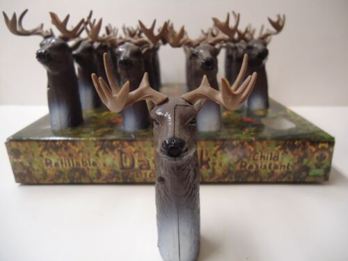 COLLECTIBLE Vintage DEER buck CIGAR LIGHTER new w/ tag ADJUSTABLE refillable