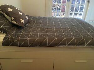 Ikea brimnes and queen mattress