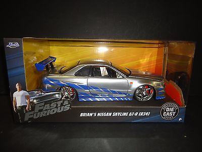 Jada Nissan Skyline GT-R R34 Brian's Fast and Furious 1/24 97158