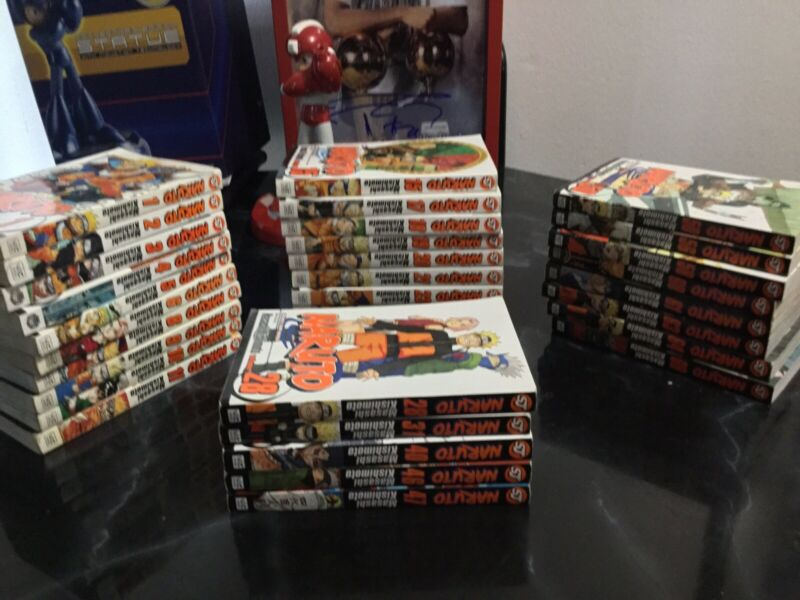 Naruto Anime Manga Books. Lot of 33! Used Free Shipping