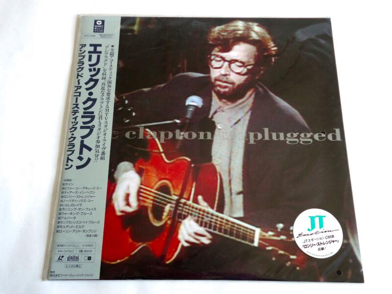 ERIC CLAPTON Unplugged JAPAN LD Laserdisc w/OBI WPLP-9086 New Sealed