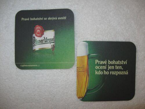 10 Pilsner Urquell Cardboard Coasters Czech Beer Coasters