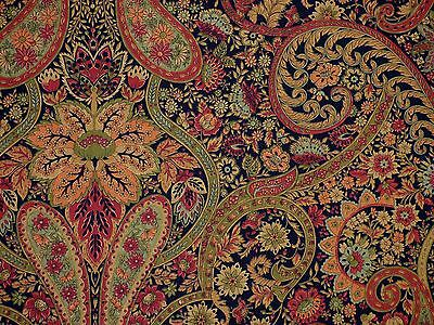 (1.75 Yards Richloom JAVA Paisley Black Green Russet Drapery Home Decor Fabric )