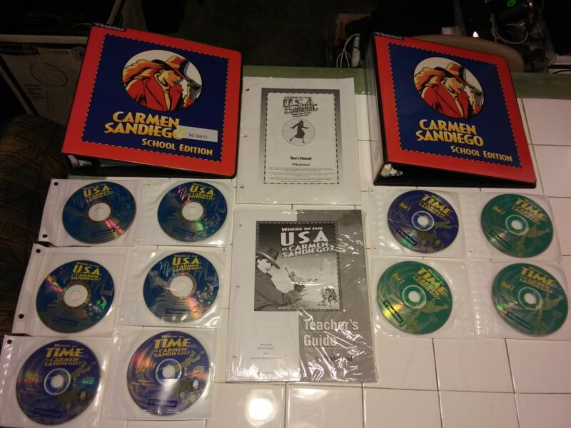 Carmen Sandiego School Edition Binders And Pages + Software Disc