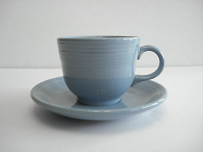 Homer Laughlin Feistaware Blue Cup and Saucer