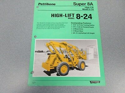 Rare Pettibone Super 8a High-lift Sales Sheet