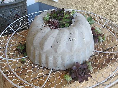 Deko Betonkuchen, für Haus und Garten.