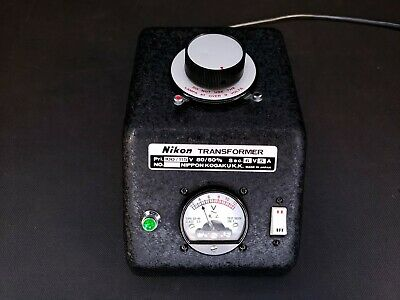 Vintage Nikon Microscope Lamp Illuminator Transformer 0-10 Volt 5 Amps - Tested