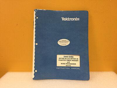 Tektronix 070-4632-00 2445 2465 Word Recognizer Service Instruction Manual