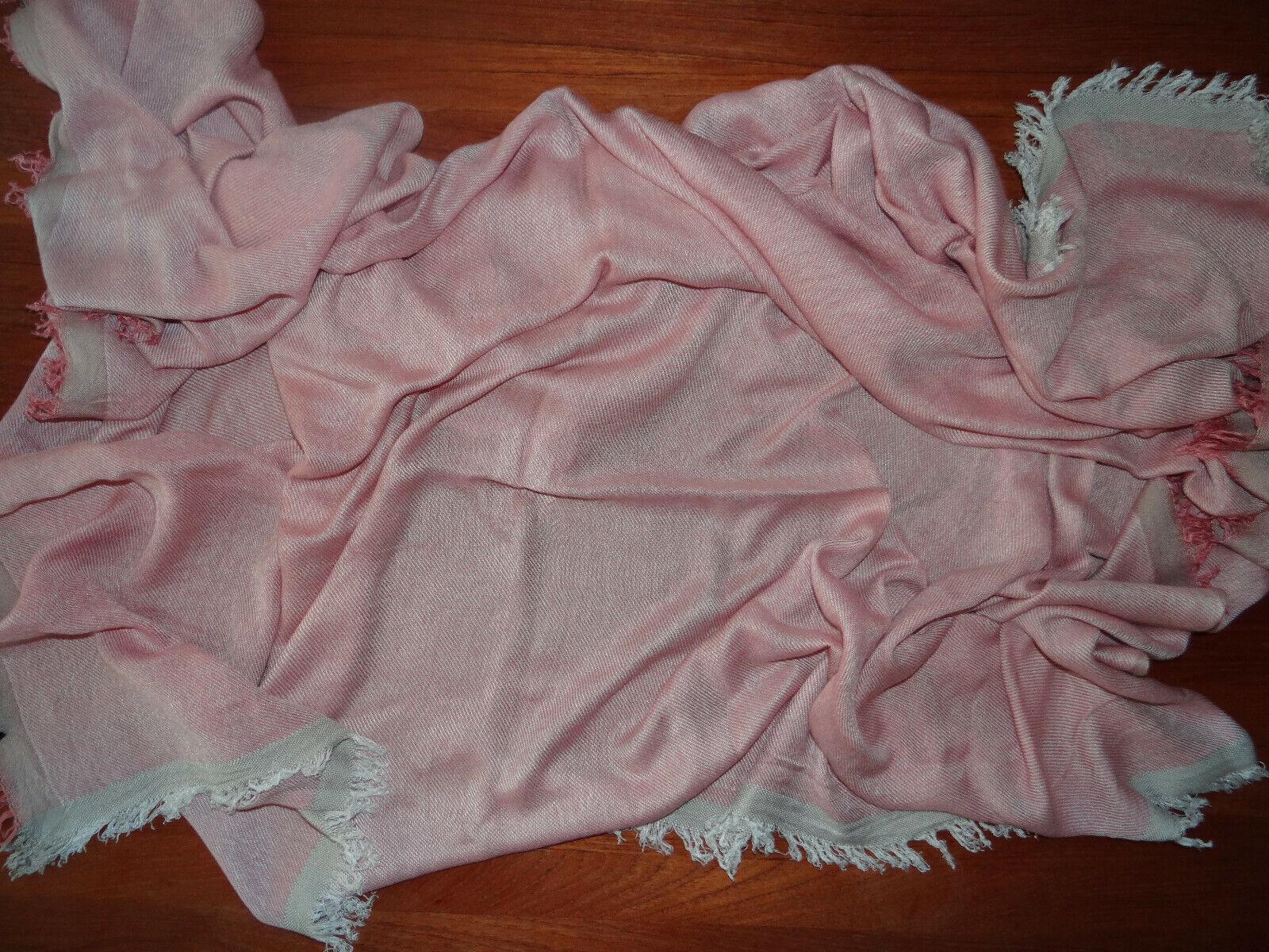 """Tuch """" Marc O'Polo """", rosa - beige - weiß, kleine Fransen,"""