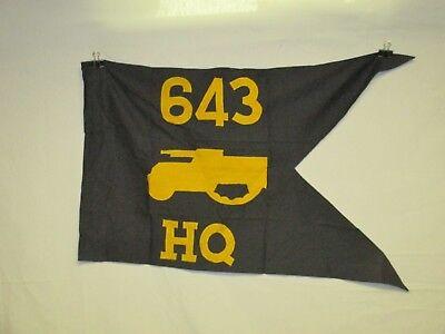 flag1098 WW2 US Army Guide on 643 HQ Head Quarters Company Tank Destroyer IR42C
