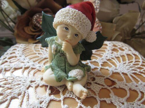 "FAIRY GARDEN miniature 2"" Christmas Fairy Figurine with Santa Hat Top Land NEW"