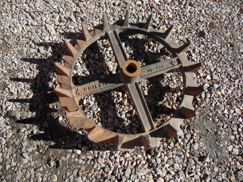 """Vintage Industrial Gear LARGE 20"""" Cast Iron Diamond Gear Wheel Art Steampunk"""