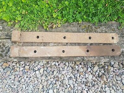 Rustic rusty wrought iron Vintage Blacksmith Made Gate Barn Door Hinges