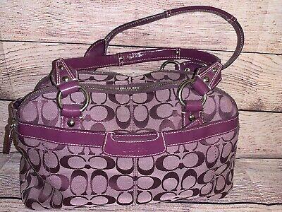 Barley Used Purple Coach Signature C's Handbag
