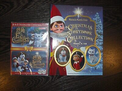 NEW Elf On The Shelf Pets: A Fox Cub's & A St. Bernards Tale DVD & STORYBOOK
