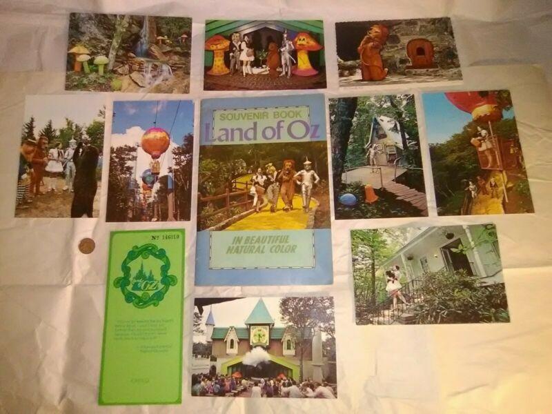 Land of Oz Souvenir Book Postcards Beech Mountain Banner Elk NC 1971 Wizard/Oz!!