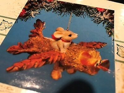 CHARMING TAILS ORNAMENT--FLYING HIGH MACKENZIE 87/992;SEALED NEW IN BOX;1995