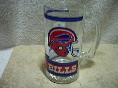 LIBBY GLASWARE NFL BUFFALO BILLS 12 OZ BEER MUG HEAVY HANDLE W/ THUMB REST