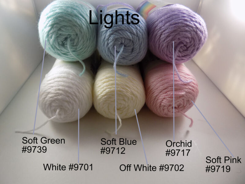 Soft Green #9739 Soft Blue #9712 Orchid #9717 Soft Pink #9719