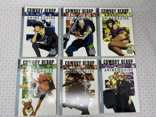Cowboy Bebop Anime Guide Books 1 2 3 4 5 6  Set Rare Spike Jet Ed Faye Julia
