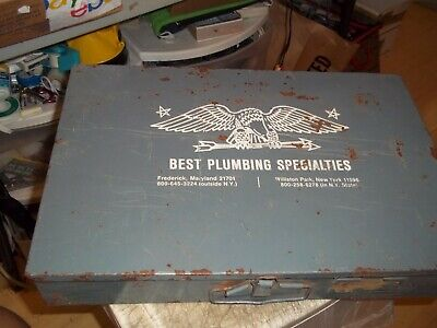 Vintage Best Plumbing Specialties Parts Fittings Storage Box Case 18.5x12x3.25