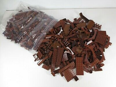 Brown Lego Bricks Parts and Pieces Lot Wood Color 1kg Bag!