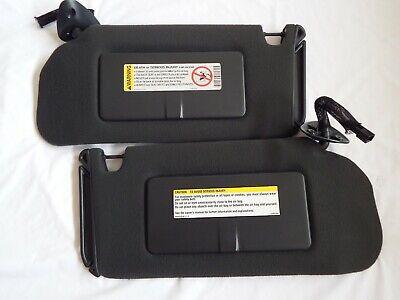 1995-05 Sun Visors Blazer Envoy OEM BLACK Charcoal Passenger Driver