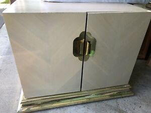 Sturdy beautiful beige gold accent cabinet table twith storage