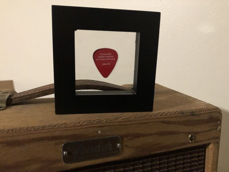 Framed Eric Clapton Guitar Pick from Christie